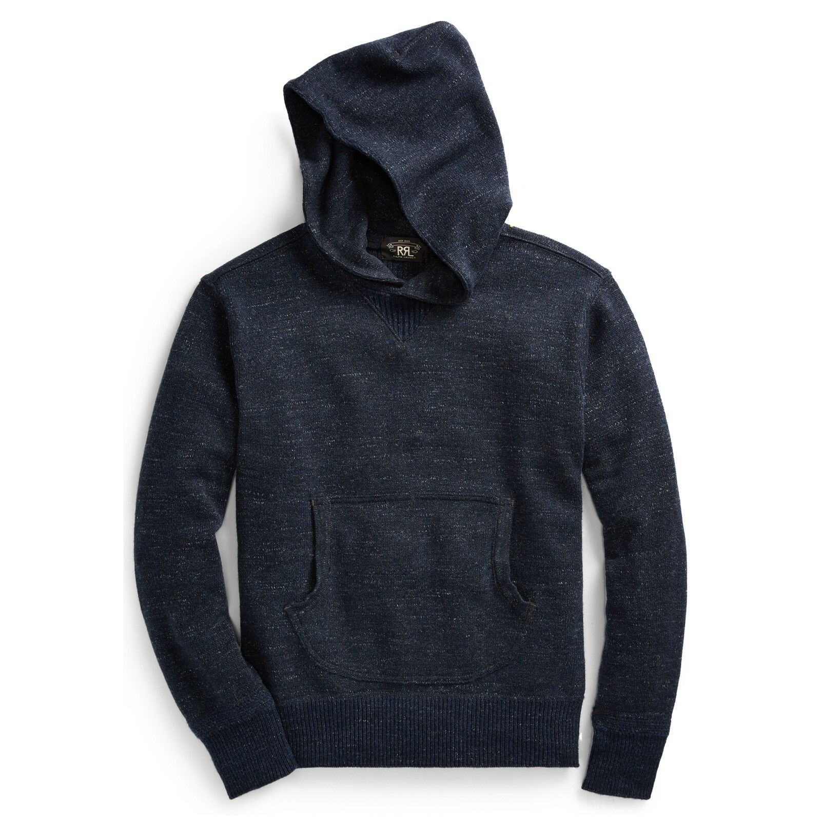 695 RRL Ralph Lauren 1930s InspiROT Made in USA Wool Cotton Sweater Hoodie- S