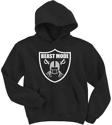 "Marshawn Lynch Oakland Raiders /""BEAST/"" jersey shirt Hooded SWEATSHIRT HOODIE"