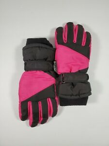 Thinsulate-Girl-039-s-Youth-Black-Pink-Adjustable-Strap-Size-Small-4-7-Used-Good