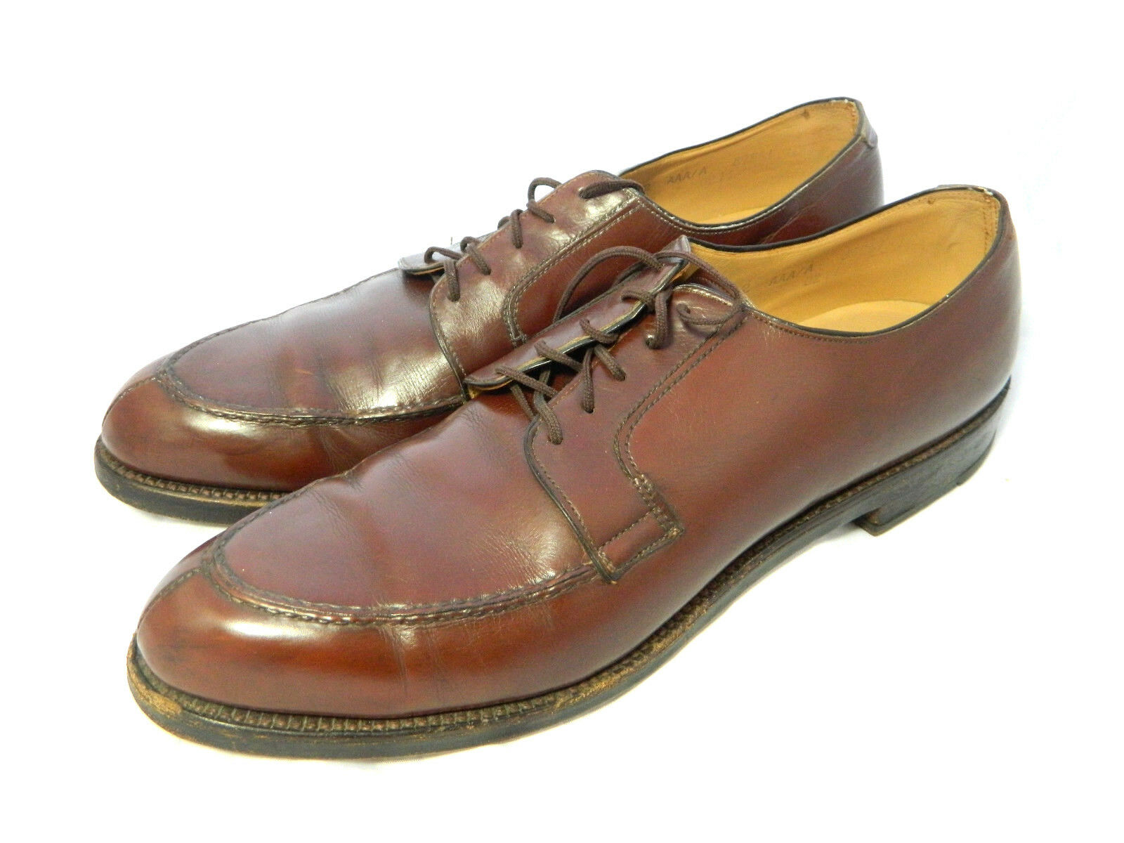 Nettleton Algonquin Traditionals Brown Leather Split Toe Oxford Shoes Sz 12 AAA Scarpe classiche da uomo
