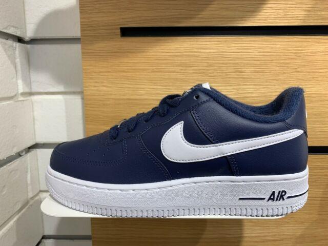 Nike Air Force 1 Low Cj0952-400 Midnight Navy White Men Size 10
