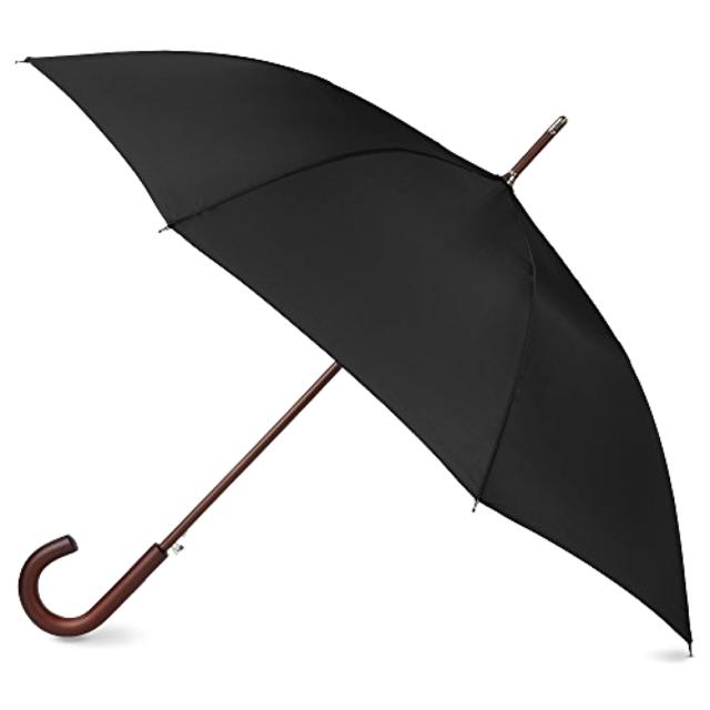 8df0dc724 Classic Umbrella Automatic Open Wooden Stick Windproof Folding Rain Black  STRONG