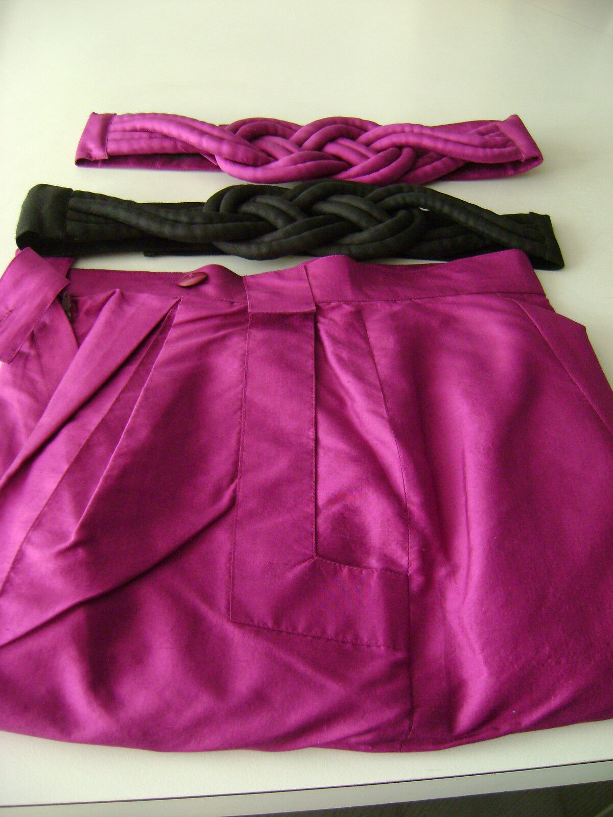 Lot of Jim Thompson 1990 Thai Silk Pants with 2-Belts - Size 8 ... 'RARE'