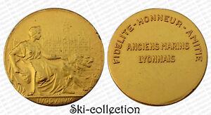 Medalla-Antiguos-Marins-De-Lyon-1941-1981-Dorado-Caja-Original