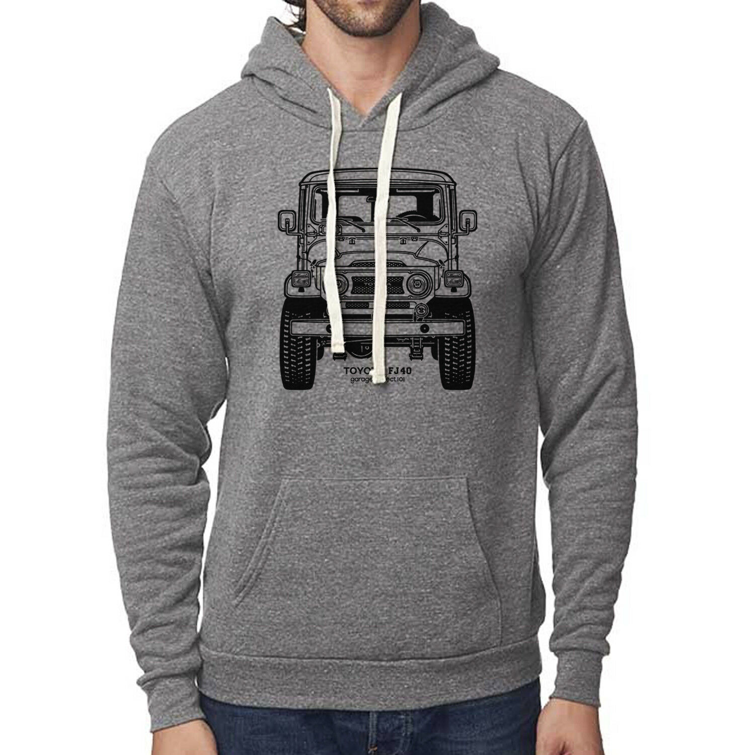 Toyota FJ40 Land Cruiser Front Pullover Hoodie