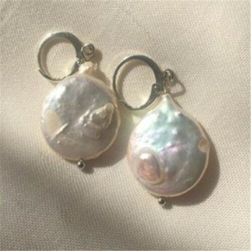 1 Pair Elegant Women Baroque Pearl Ear Stud Fashion Earrings Gift Flawless