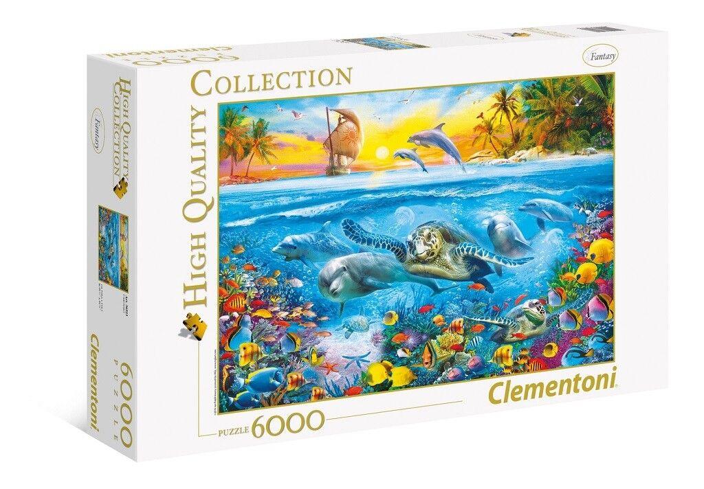 Clementoni Underwater 6000 Piece Oceancape Jigsaw Puzzle Sea Turtle Dolphins