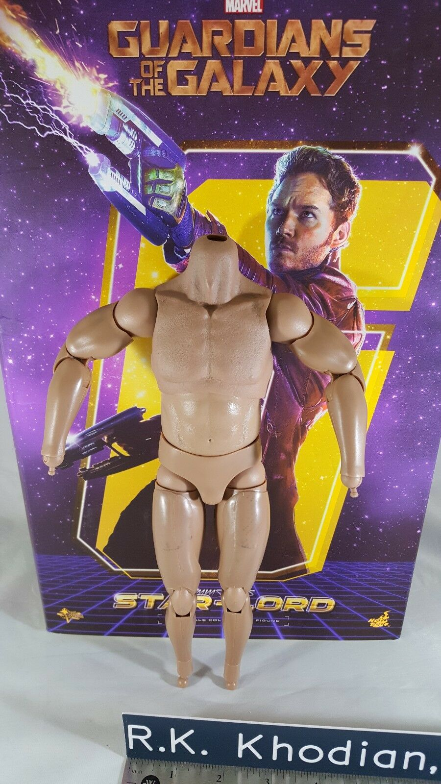 Hot Toys MMS255 Guardians Galaxy Star Lord Figurine échelle 1 6 corps seulement