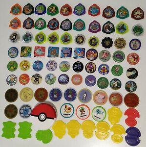Lote-bunch-85-Pokemon-Tazos-Kraks-Binx-Staks-Espana-Spain