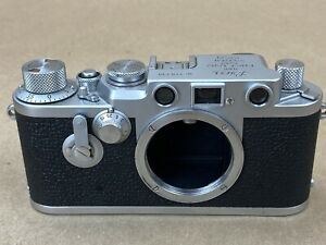 LEICA-IIIF-Red-Dial-Sel-Timer-Vintage-Camera-Body-718738-Clean-amp-Working