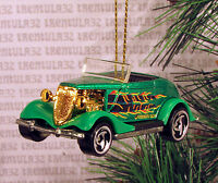 '33 Ford Roadster Coupe 1933 Green Black Gold Christmas Ornament Xmas