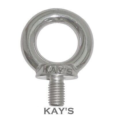 M5 Eye bolt short thread A4 316 Marine grade stainless steel lifting screw eyes