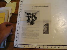 Vintage Puppet Marionette paper: MASK PROJECT IN CELASTIC 4 page