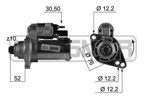 MOTORINO AVVIAMENTO ORIGINALE PER VW PASSAT 3C2 2.0 FSI 150 BVY 05 - 10 00011214