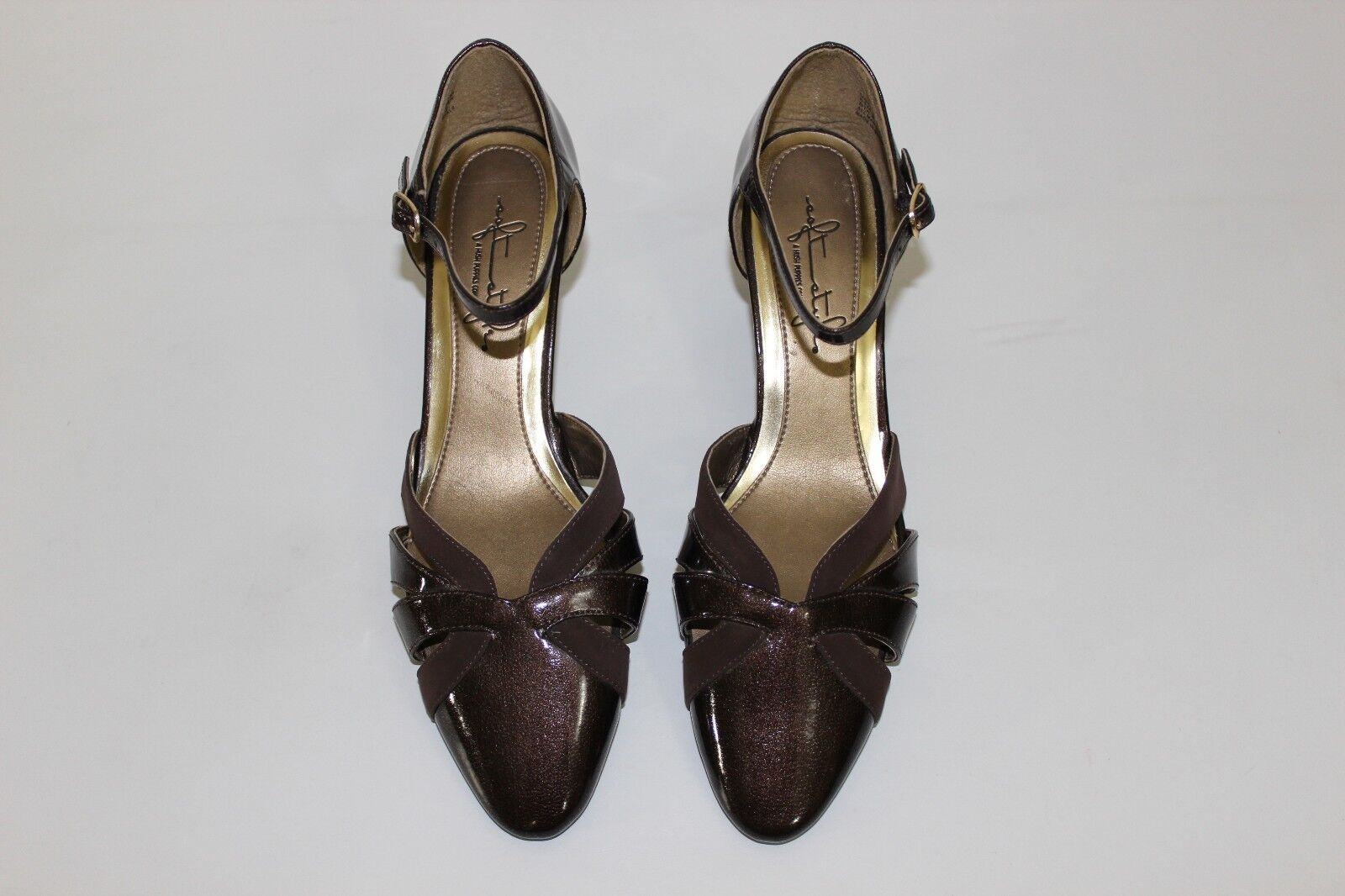 Soft Style Hush Puppies Womens Sz 6.5 M Pumps Brown Strappy High Heels Pumps M Shoes NEW 67d055