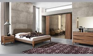 Details zu Modernes Schlafzimmer Komplett Set 6tl.Ulmenholz Tabak Farbe  Italienische Möbel