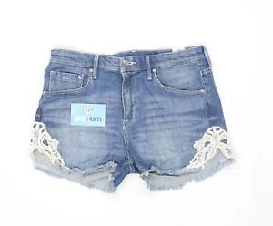 Womens-H-amp-M-Blue-Denim-Shorts-Size-W30-L2