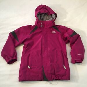Girls The North Face Midweight Hyvent Jacket Coat Size Youth Small 7/8 Hooded