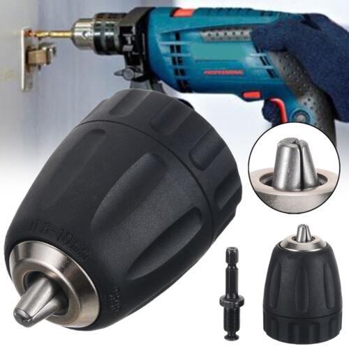 "US 0.8-10mm Keyless Drill Chuck Converter 3//8/"" 24UNF w// Hex Shank SDS Adaptor"