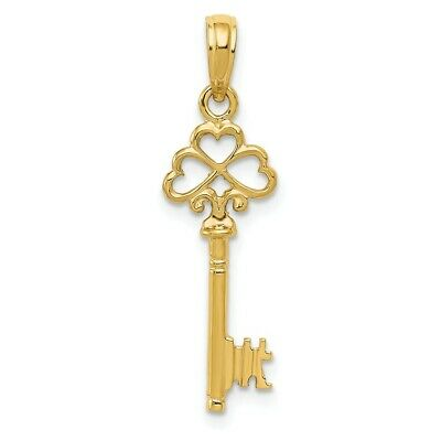 Details about  /14K Yellow Gold 3-D Key Pendant
