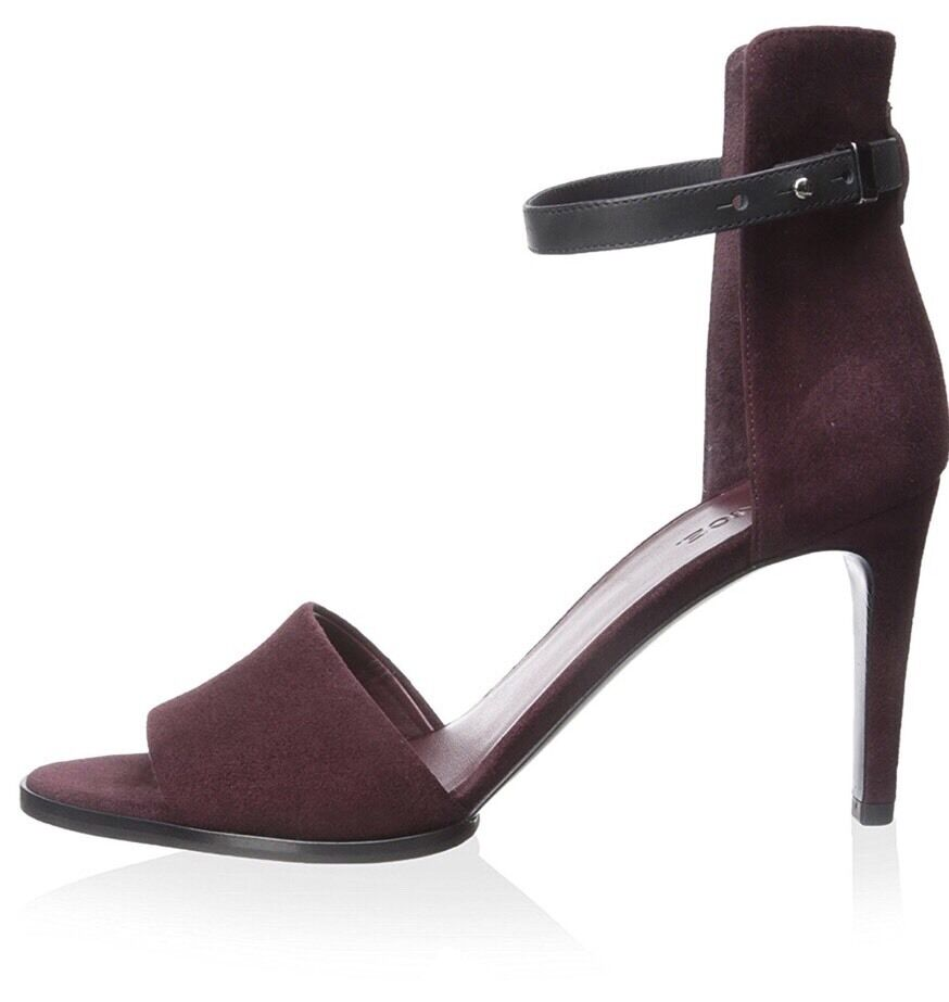Vince Adley Burgundy Suede High Heel Ankle Strap Sandals Size 10