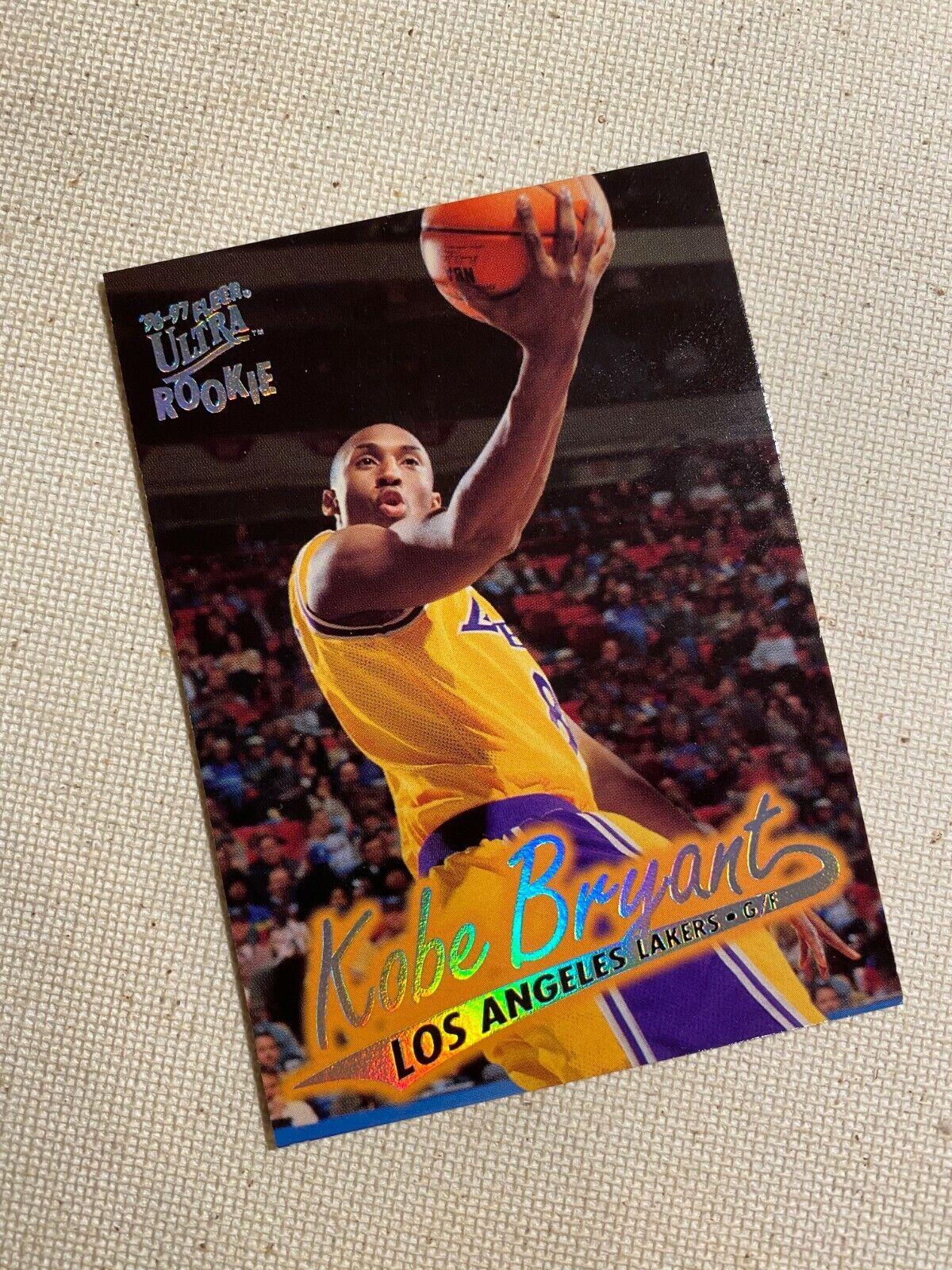 Kobe Bryant Rookie Card 1996-1997 Fleer Ultra #52 ...