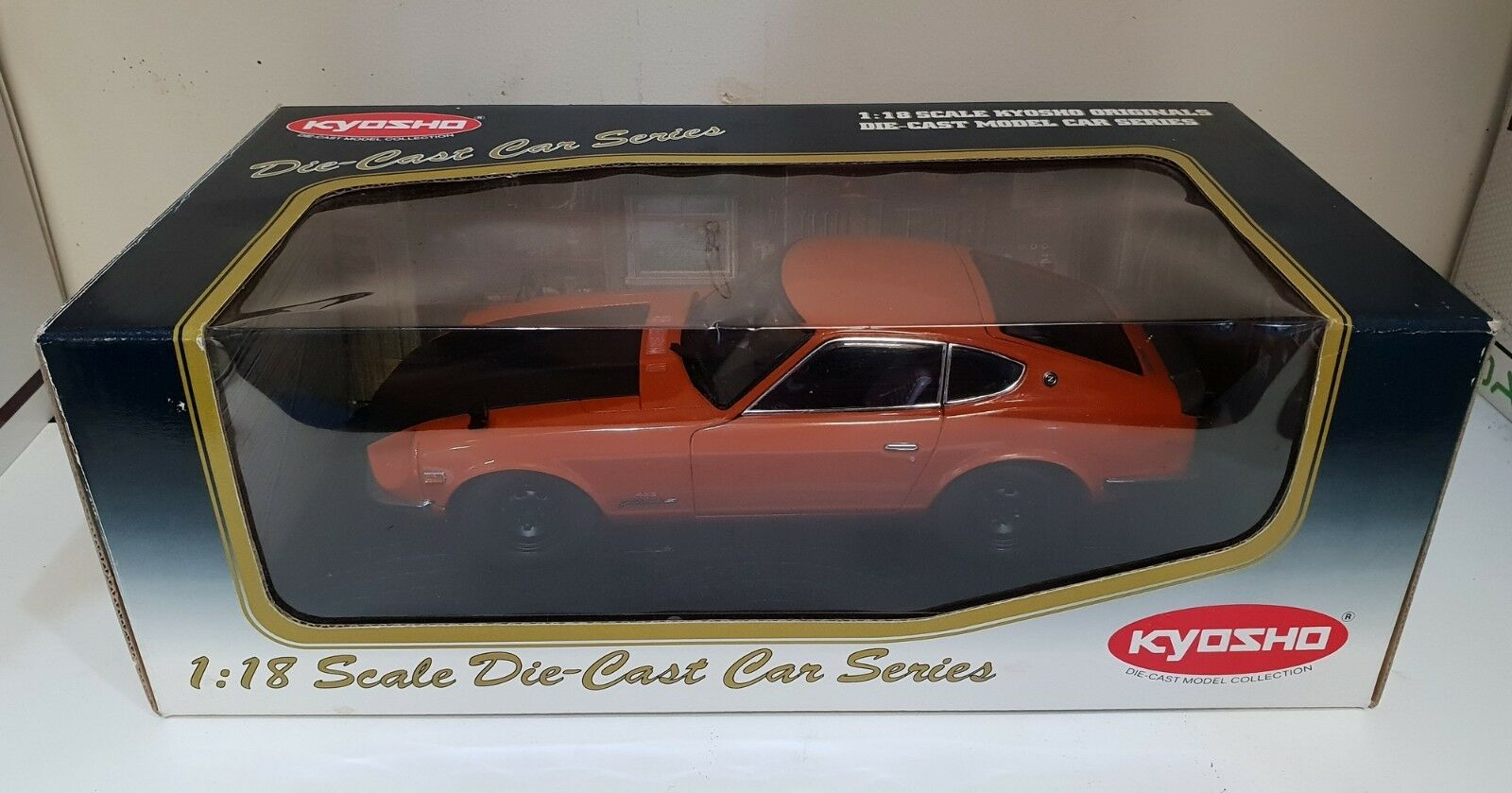 1 18 Scale Kyosho Nissan Fairlady Z 432-R - Orange - RARE MODEL - 08213P