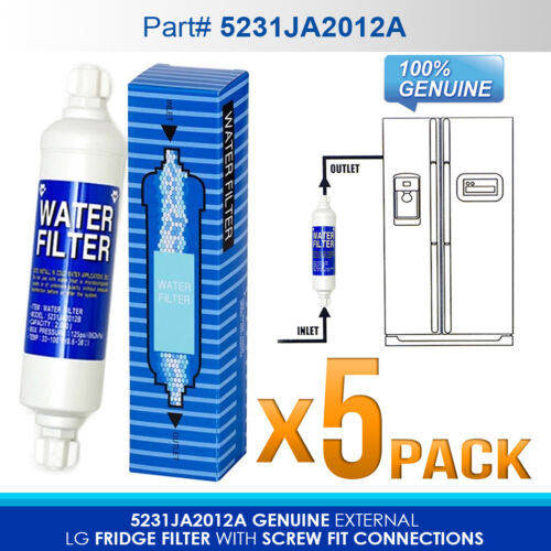 5 X LG  external  fridge filter  model number 5231JA2012A  SUIT FOR EXTERNAL