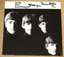 GEORGE MARTIN HAND SIGNED WITH THE BEATLES POSTCARD UACC REGISTERED DEALER