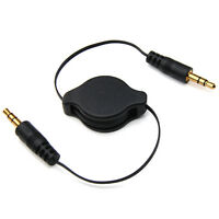 3.5mm Car Audio Aux Jack Retractable Cable Lead for iPod MP3 iPhone Mobiles Nano