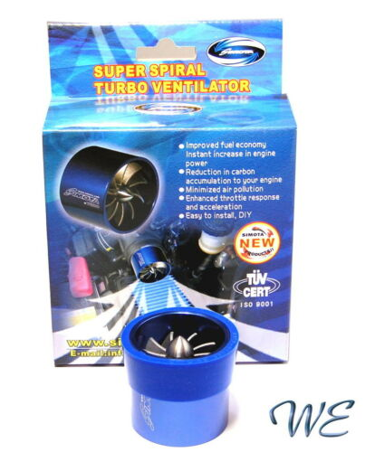 New Gen Air Intake TUV//CE Super Spiral Turbo Ventilator neak Size 55-64mm