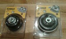 "dewalt elu 9/"" 230mm 180mm 7/"" angle grinder wire brush twin pack m14 course FINE"