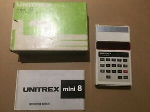 2019 Nouveau Style Unitrex Mini 8 Vintage Electronic Calculator + Instructions-afficher Le Titre D'origine
