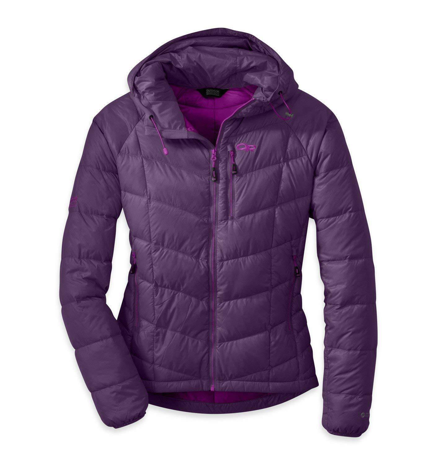 NWT Outdoor Research Women's Sonata Down Parka, Elderberry XL MSRP  285