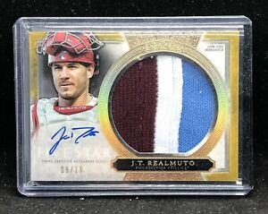 2020 Topps Five Star Jt Realmuto Auto 3 Color Patch 9/10