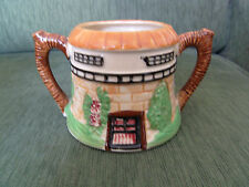 COTTAGE WARE  SUGAR BOWL . KLIMAX. HAND PAINTED. FOREIGN. FAIR. 7.5 CM TALL