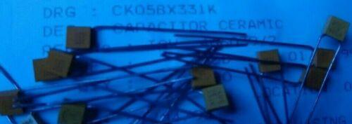KEMET CK05BX331K 330pF ±10/% 200V  Multilayer Ceramic Capacitor