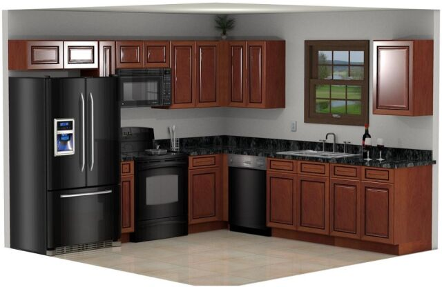 Signature Maple Kitchen Cabinet 10x10 Set All Wood Rta Cabinetry Ship Mr10 For Sale Online Ebay