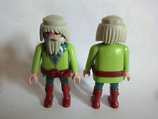 Playmobil Druide Kelte Germane grün LA Aventura de la Historia graue Haare Bart