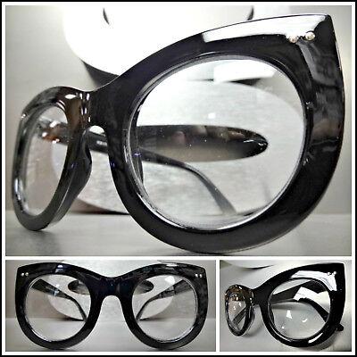 Men/'s Women CLASSIC VINTAGE RETRO Style Clear Lens EYE GLASSES Thick Black Frame