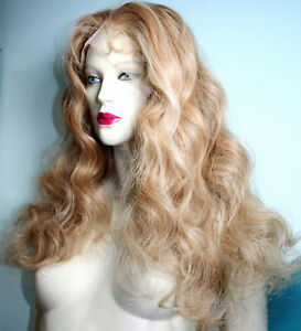 Classy-Front-Lace-Wig-Blonde-Mix-Human-Hair-Indian-Remi-Remy-Bodywave-27-613
