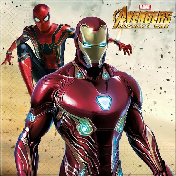 AVENGERS INFINITY WAR PLASTIC PARTY TABLECOVER DISNEY MARVEL GROOT THOR IRON MAN