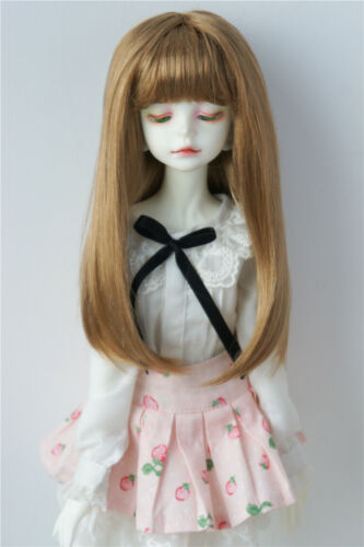 7-8inch Synthetic Mohair Doll Wigs Miranda Long Hair with Full Bang 1//4 BJD Wig
