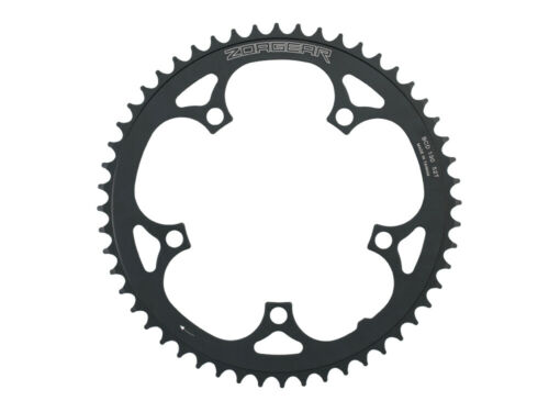 Black New Zoagear Single Speed Chainring 130 BCD 52 Teeth Track Fixed Gear Bike