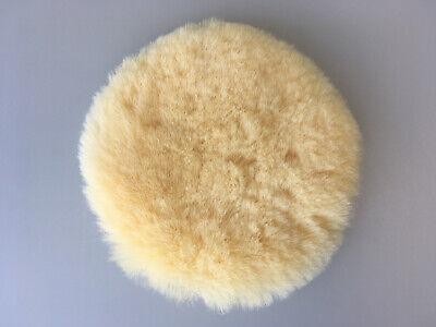 polierpad 150 mm echtes lammfell mit klett polierfell ebay. Black Bedroom Furniture Sets. Home Design Ideas
