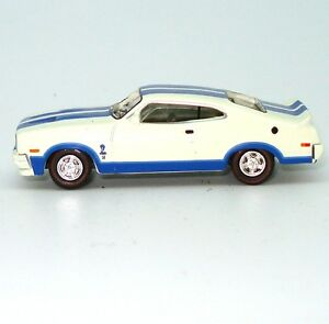 NEW-1978-Ford-Falcon-XC-Cobra-Hardtop-1-87-White-Blue-Diecast-Model-Car-Cooee