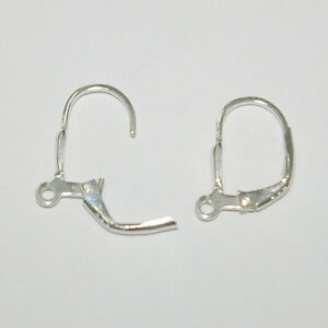 Image Is Loading Whole Lots 925 Sterling Silver Leverback Earring Hooks