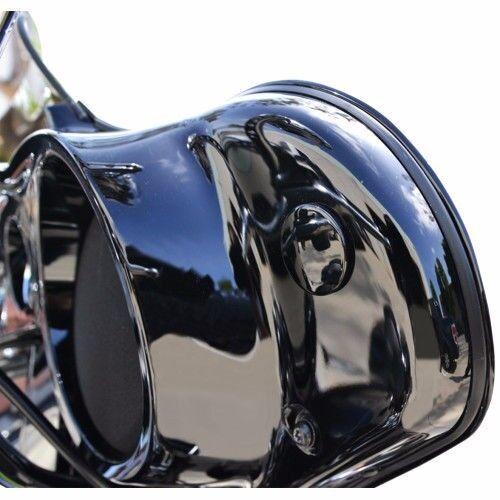 Black Inner Fairing Mirror Plugs For Harley FLHX Bating 06-16 Tri Glide