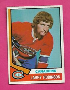 1974-75-OPC-280-CANADIENS-LARRY-ROBINSON-2ND-YEAR-EX-CARD-INV-C9673