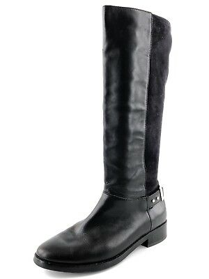 Cole Haan Adler Black Leather Suede Knee High Riding Boots Women's Size 7.5 M*